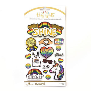Let Love Shine Embellished 3D Stickers | River & Ink x PHP Collab