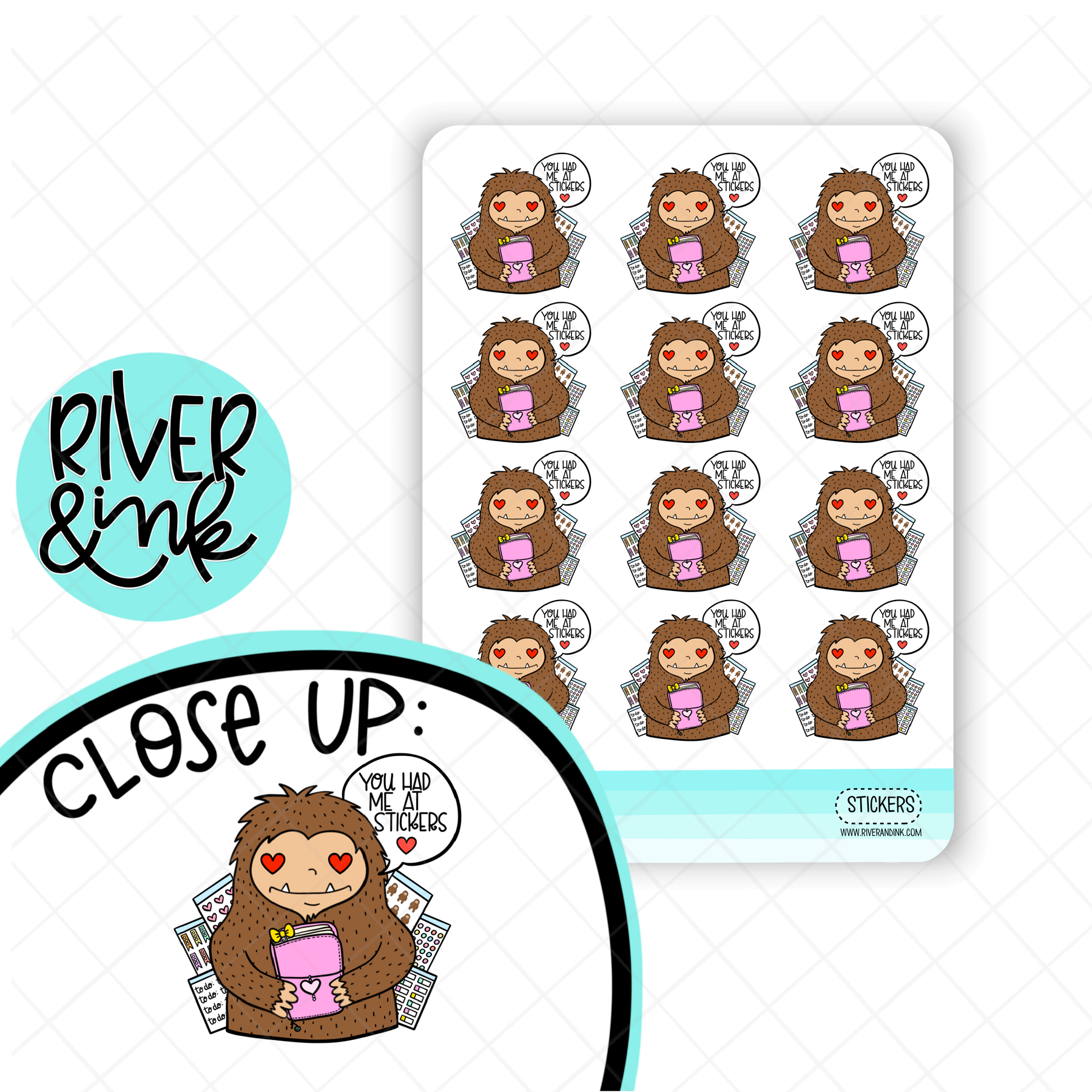 You Had Me at Stickers Biggie Sass | Hand Drawn Planner Stickers