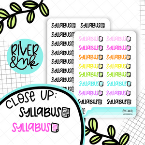 Syllabus | Hand Lettered Planner Stickers