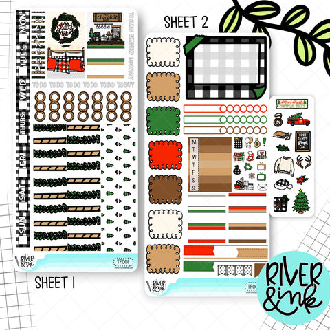 Tree Farm Christmas Hobonichi Weeks Sticker Kit