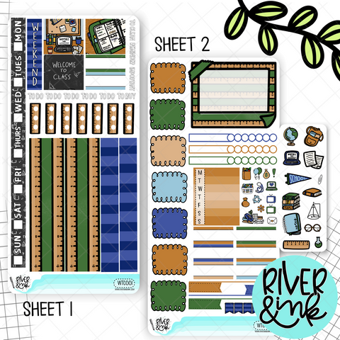 Welcome To Class Hobonichi Weeks Sticker Kit | Planner Stickers