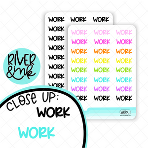 Work | Hand Lettered Planner Stickers