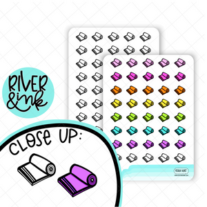 Yoga Mat Icon | Hand Drawn Planner Stickers