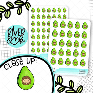 Avocado Biggie Sass Planner Character | Hand Drawn Planner Stickers