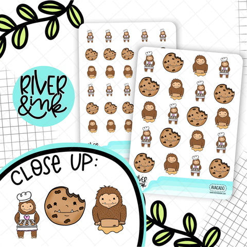Baker Biggie Sass Planner Character | Hand Drawn Planner Stickers