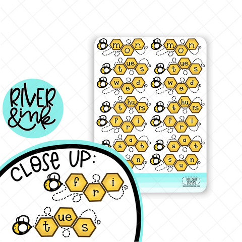 Bee Date Covers | Hand Drawn Planner Stickers