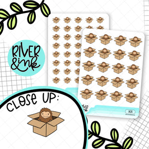 Moving Box Biggie Sass Planner Character | Planner Stickers