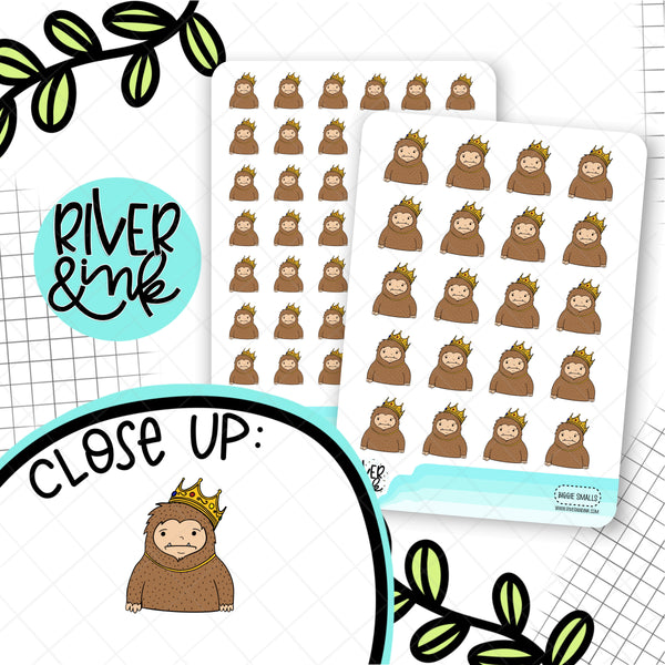 Biggie Sass Planner Character | Hand Drawn Planner Stickers