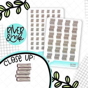 Book Stack Icons | Hand Drawn Planner Stickers