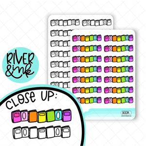 Book Divider | Hand Drawn Planner Stickers