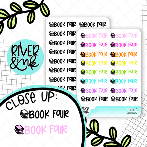 Book Fair | Hand Lettered Planner Stickers