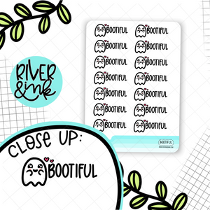 BOOtiful Ghost Pun | Hand Drawn Planner Stickers