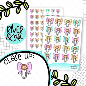 Bow Clip Biggie Sass Planner Character | Planner Stickers