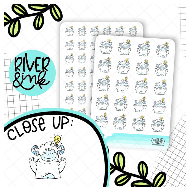 Bright Idea Ygritte Yeti Planner Character | Hand Drawn Planner Stickers