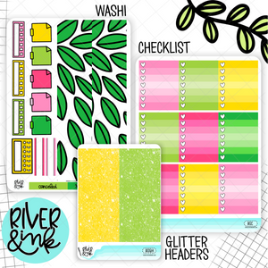 Bright and Sunny | Weekly Vertical Planner Stickers Kit Add Ons