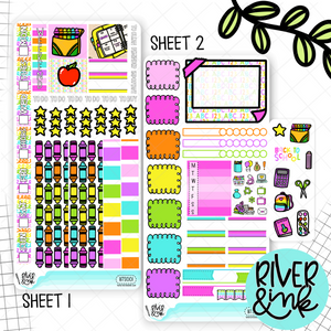Back To School Hobonichi Weeks Sticker Kit | Planner Stickers