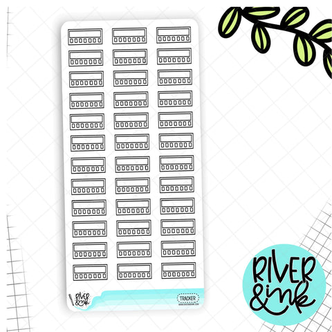 Black & White Mini Tracker Hobonichi Weeks | Planner Stickers