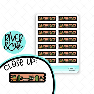Cactus Washi Strip | Hand Drawn Planner Stickers