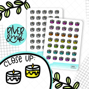 Candles Icons | Planner Stickers