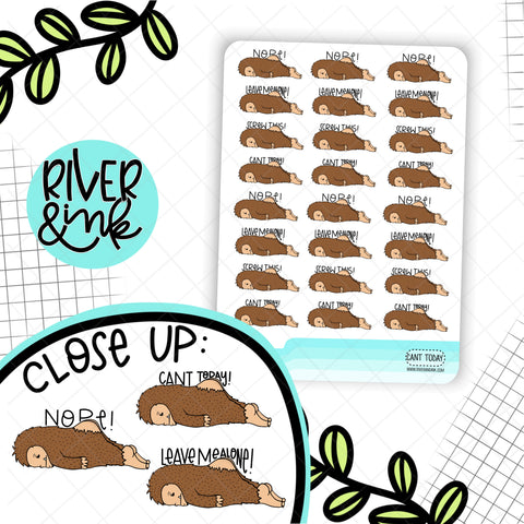 Can't Today Biggie Sass Planner Character | Planner Stickers