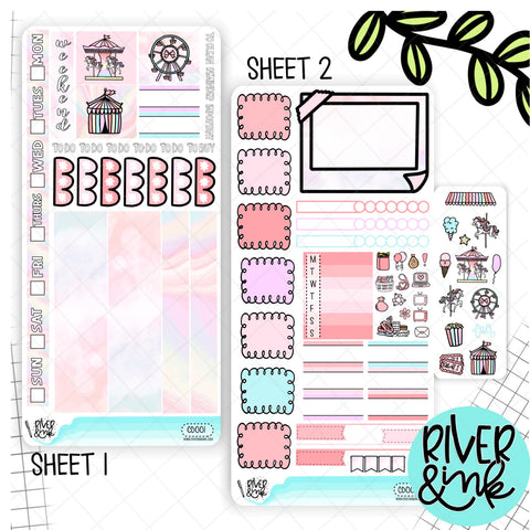 Carousel Dreams Hobonichi Weeks Sticker Kit | Planner Stickers