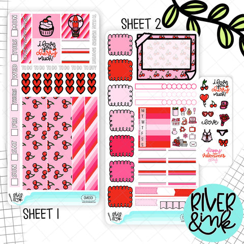 I Love You Cherry Much | Hobonichi Weeks Sticker Kit