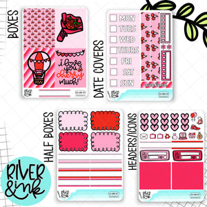 I Love You Cherry Much | Mini Weekly Planner Stickers Kit