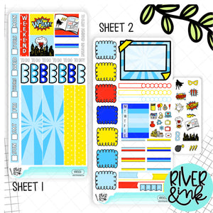 Comic Hobonichi Weeks Sticker Kit | Planner Stickers