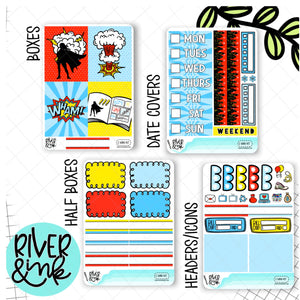 Comic Book | Mini Weekly Planner Stickers Kit