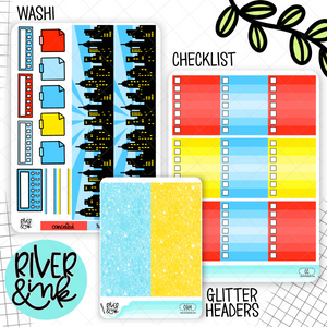 Comic | Weekly Vertical Planner Stickers Kit Add Ons