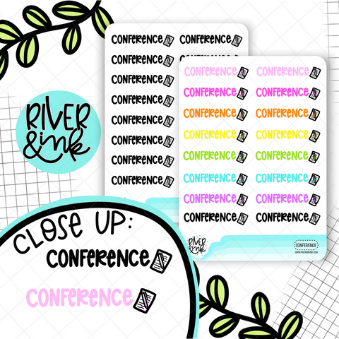 Conference | Hand Lettered Planner Stickers