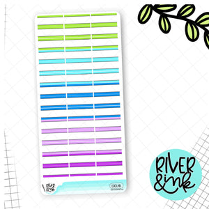 Cool Tones Boxes Hobonichi Weeks | Planner Stickers