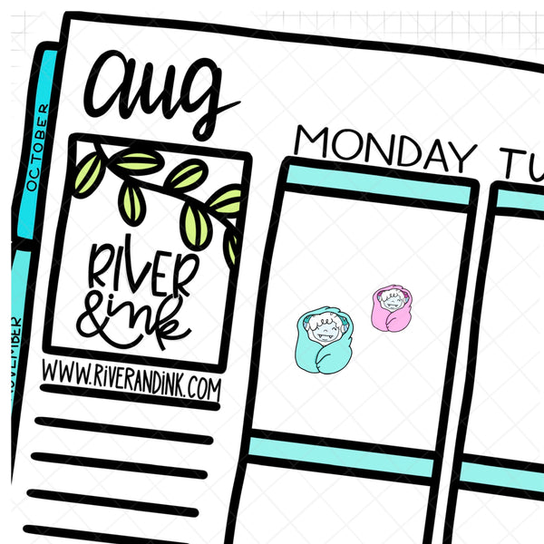 Cozy Ygritte Yeti Planner Character | Hand Drawn Planner Stickers