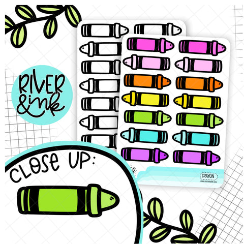 Crayon | Hand Drawn Planner Stickers
