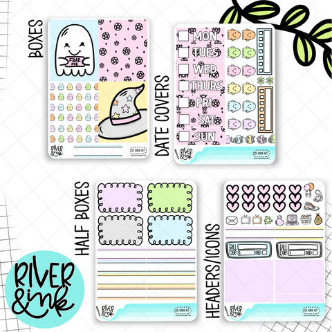 Creep It Real Halloween | Mini Weekly Planner Stickers Kit