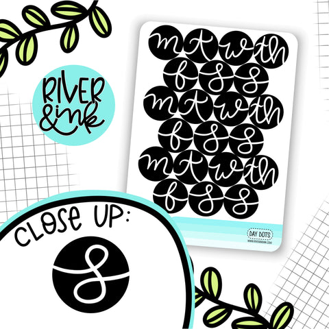 Day Dots Date Cover | Hand Lettered Planner Stickers