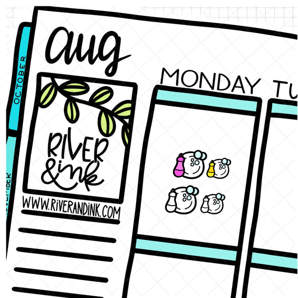 Rainbow Dishes Icon | Hand Drawn Planner Stickers