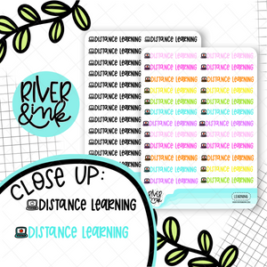 Distance Learning | Hand Lettered Planner Stickers