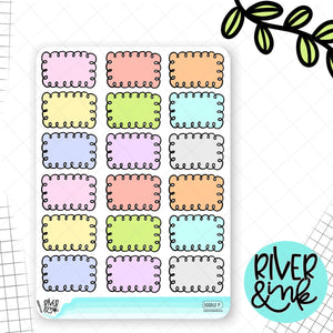 Pastel Doodle Half Box | Hand Drawn Planner Stickers