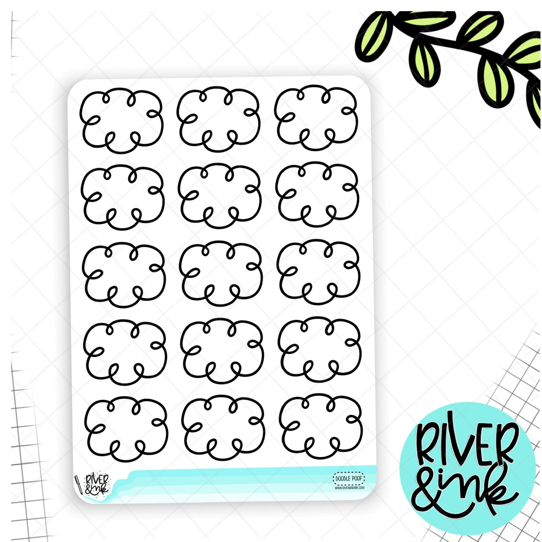 Doodle Poofs | Hand Drawn Planner Stickers