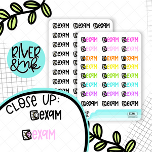 Exam | Hand Lettered Planner Stickers