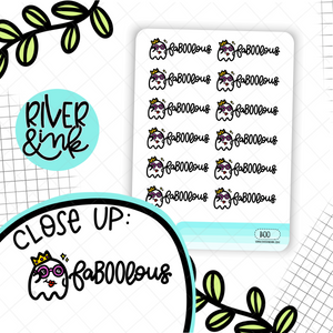 FaBOOlous Ghost Pun | Hand Drawn Planner Stickers
