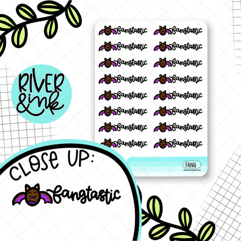 Fangtastic Bat | Hand Drawn Planner Stickers