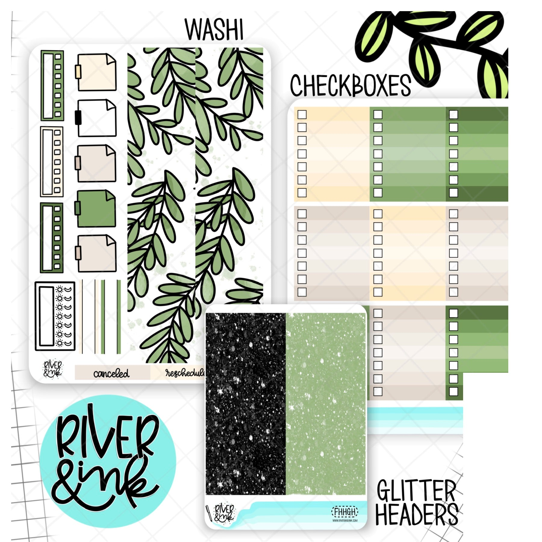 Farm House Home | Weekly Vertical Planner Stickers Kit Add Ons