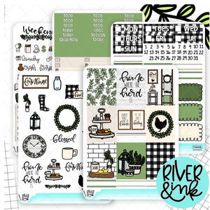 Farm House Home | Weekly Vertical Planner Stickers Kit