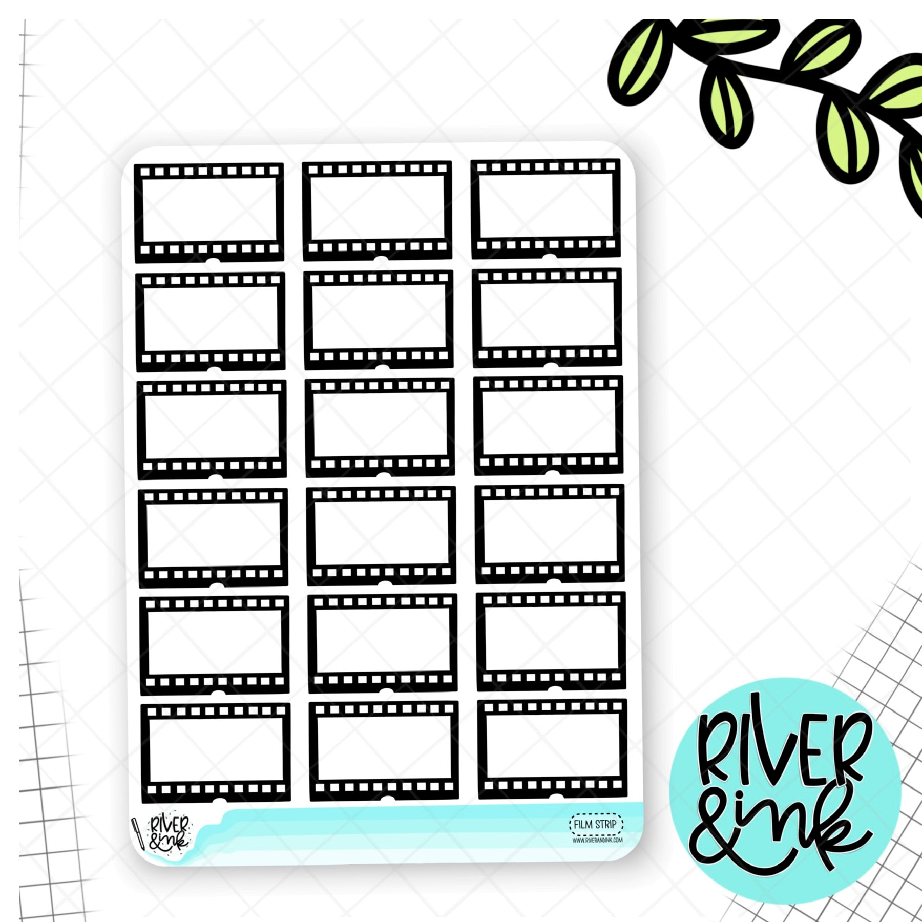 Movie Film Strip | Hand Drawn Planner Stickers
