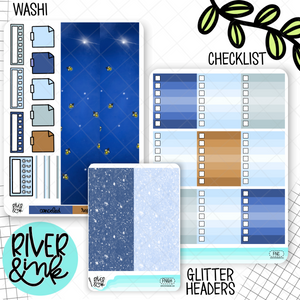 Firefly Nights | Weekly Vertical Planner Stickers Kit Add Ons
