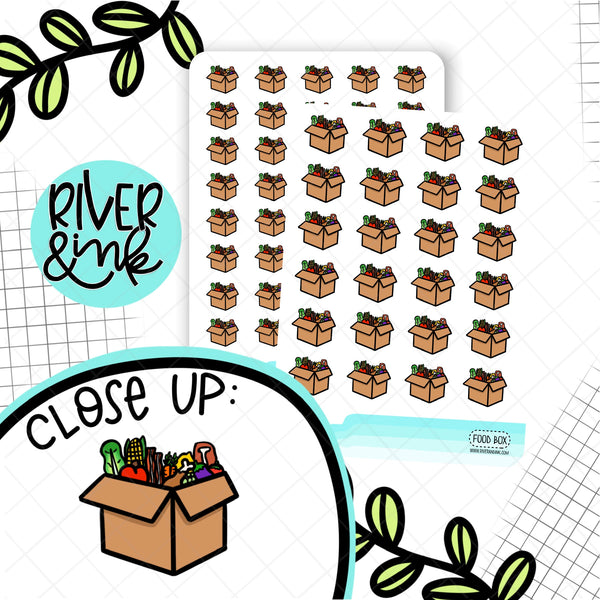 Food Subscription Boxes | Hand Drawn Planner Stickers