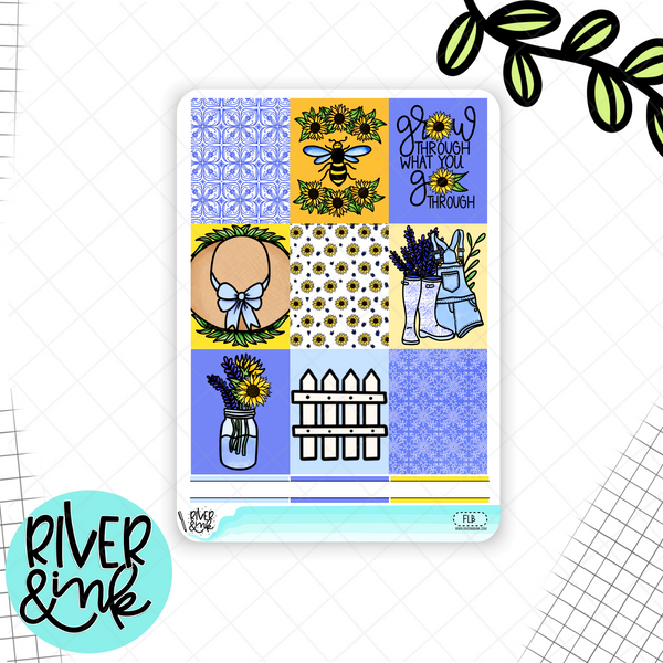 Find the Light Sunflower | Weekly Vertical Kit Planner Stickers