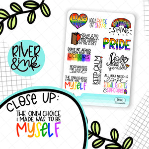 General Pride Quotes | Hand Lettered Planner Stickers